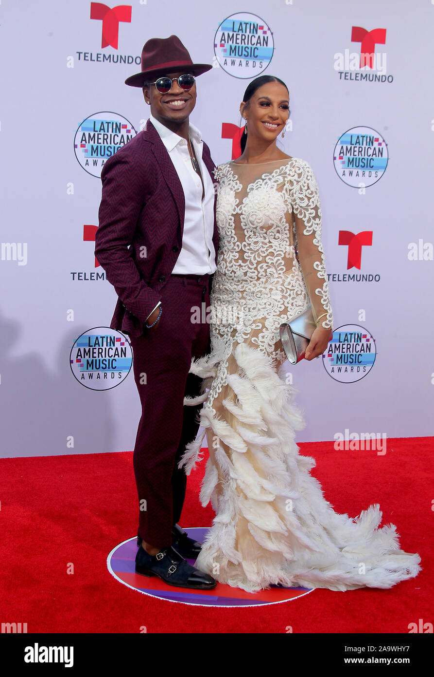 Latin American Music Awards 2019 held at the Dolby Theatre in Hollywood, California. Featuring: Ne-Yo, Crystal Renay Where: Los Angeles, California, United States When: 17 Oct 2019 Credit: Adriana M. Barraza/WENN.com Stock Photo
