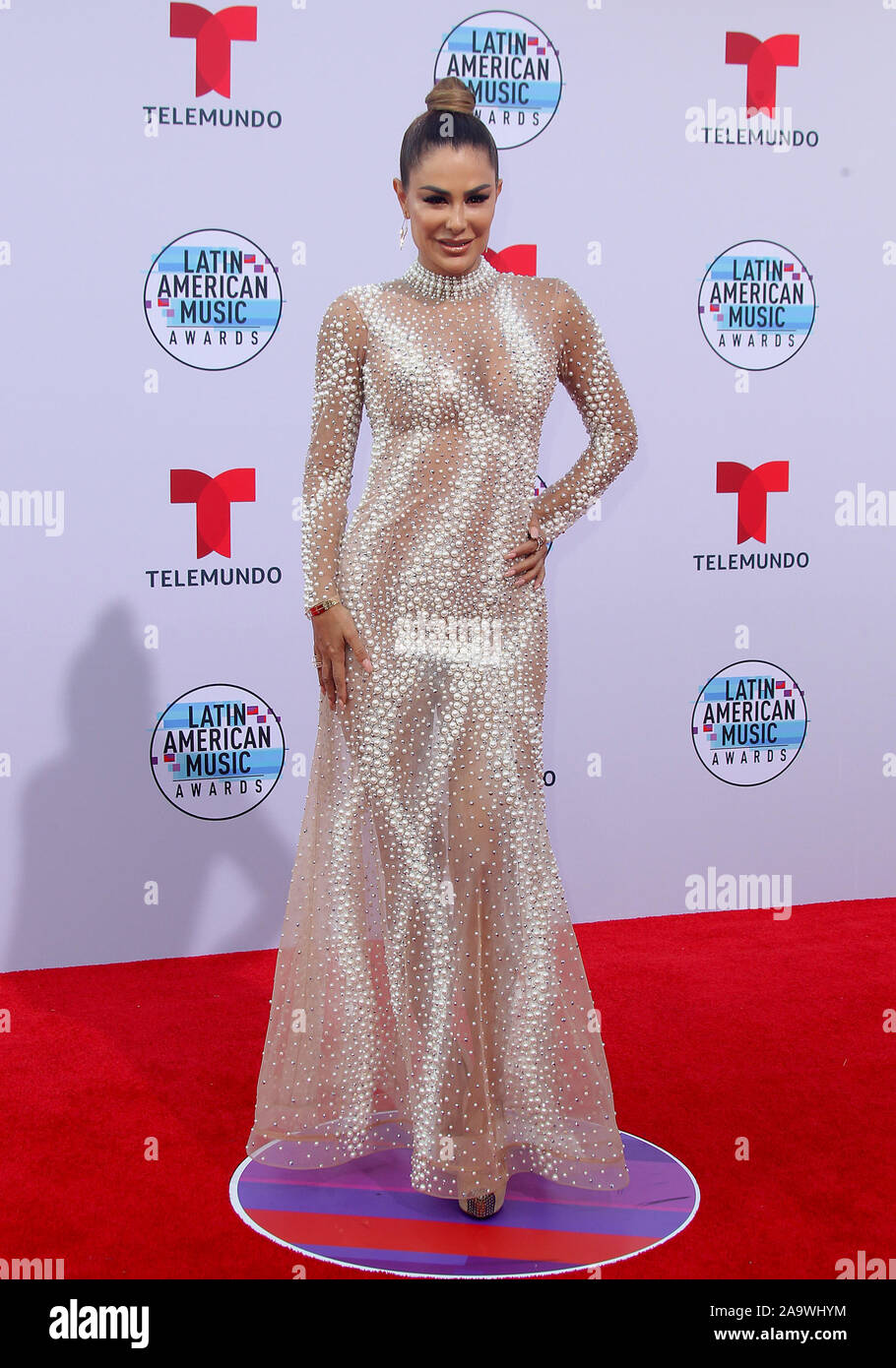 Latin American Music Awards 2019 held at the Dolby Theatre in Hollywood, California. Featuring: Ninel Conde Where: Los Angeles, California, United States When: 17 Oct 2019 Credit: Adriana M. Barraza/WENN.com Stock Photo