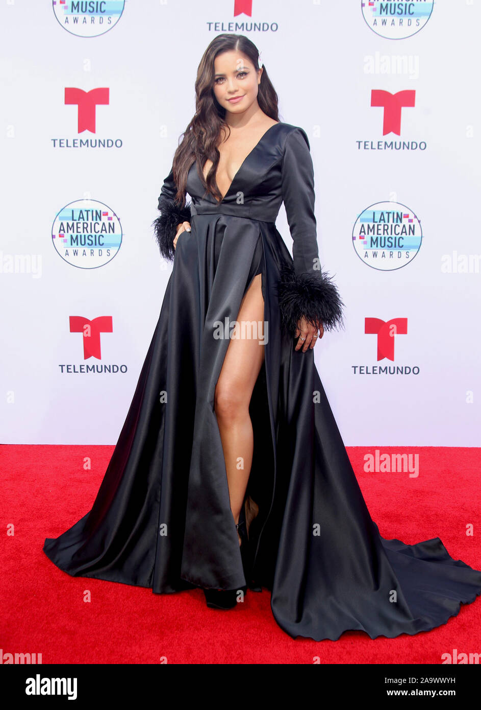 Latin American Music Awards 2019 held at the Dolby Theatre in Hollywood, California. Featuring: Emilia Where: Los Angeles, California, United States When: 17 Oct 2019 Credit: Adriana M. Barraza/WENN.com Stock Photo