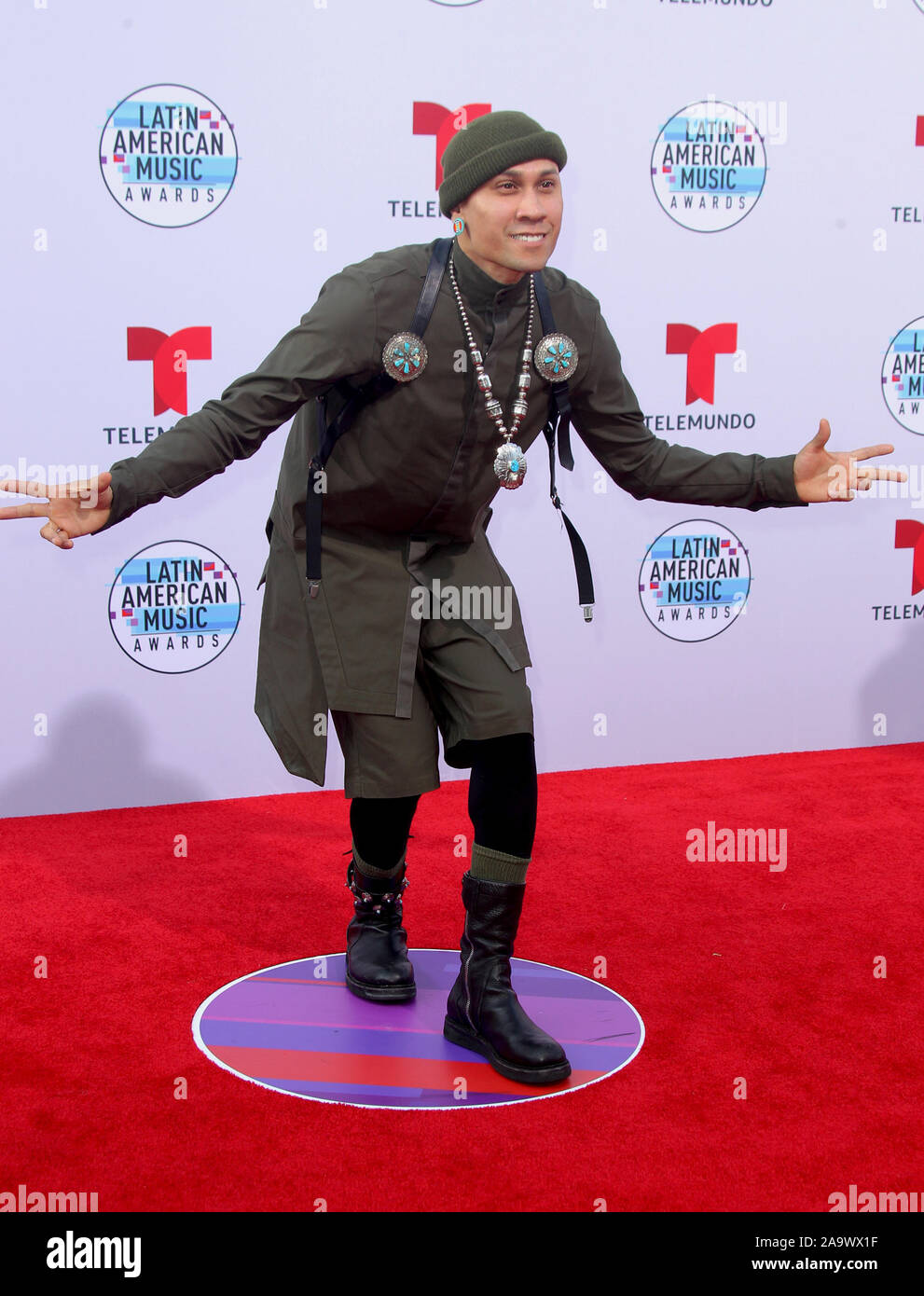 Latin American Music Awards 2019 held at the Dolby Theatre in Hollywood, California. Featuring: Taboo Where: Los Angeles, California, United States When: 17 Oct 2019 Credit: Adriana M. Barraza/WENN.com Stock Photo