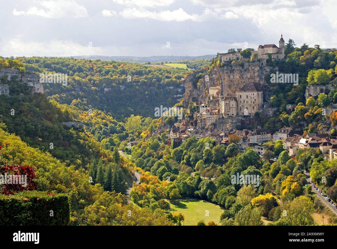 Rocamadour from l'Hospitalet Stock Photo