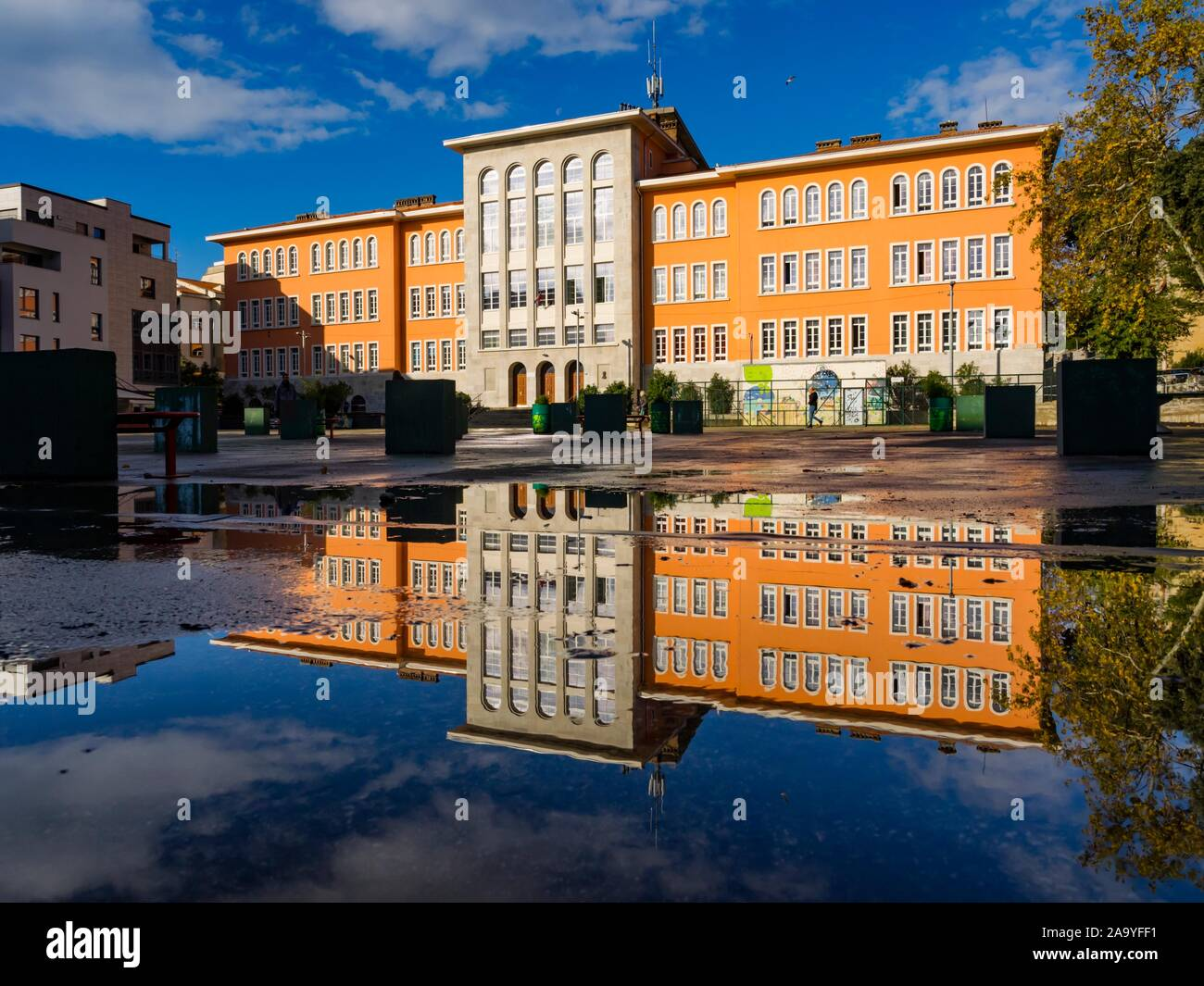 Elementary school Nikola Tesla in Rijeka in Croatia Stock Photo