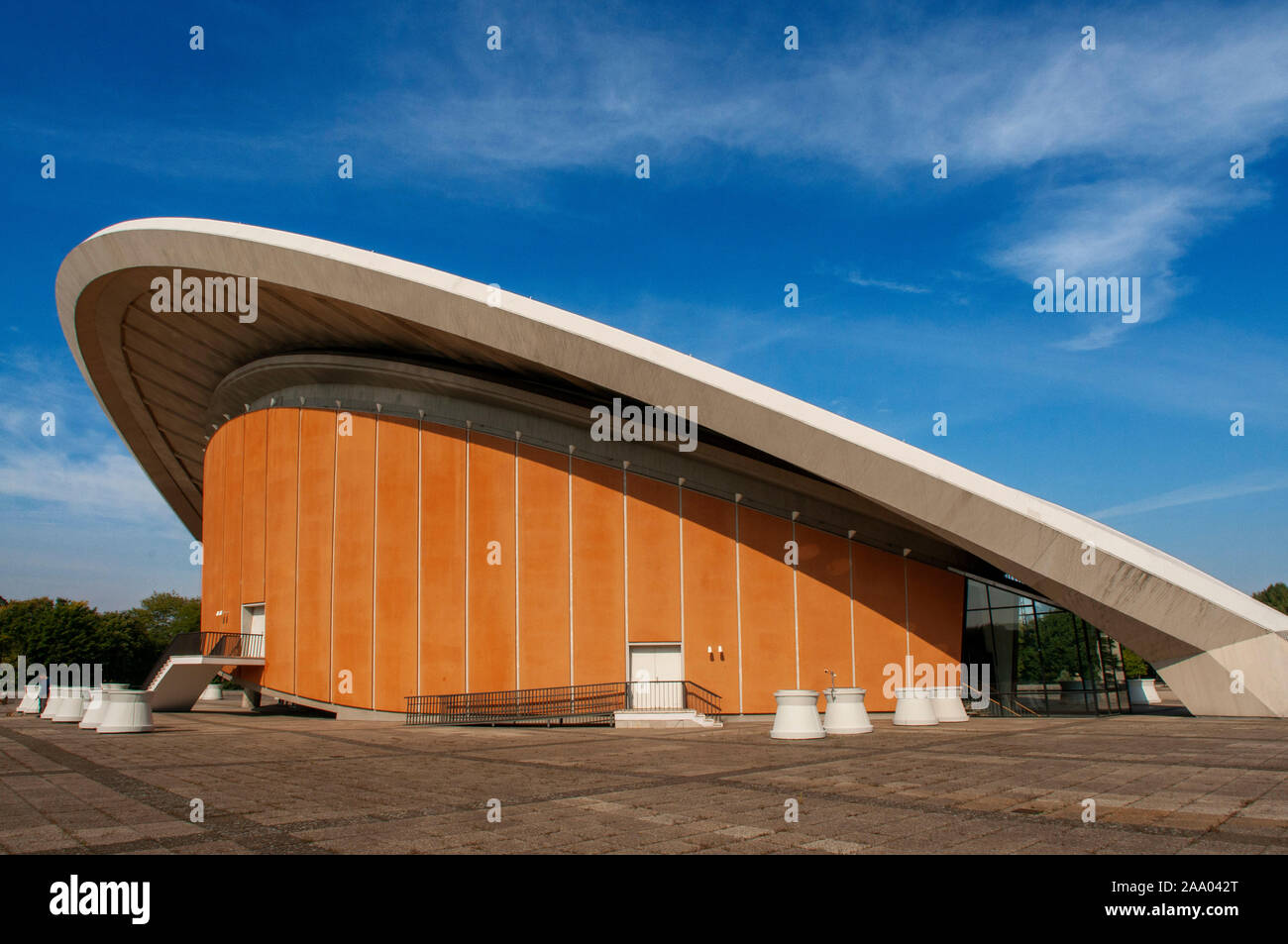 Haus der Kulturen der Welt House of World Cultures in Berlin Germany. The Congress Hall is the Haus der Kulturen der Welt. Germany, Capitol Berlin, Di Stock Photo