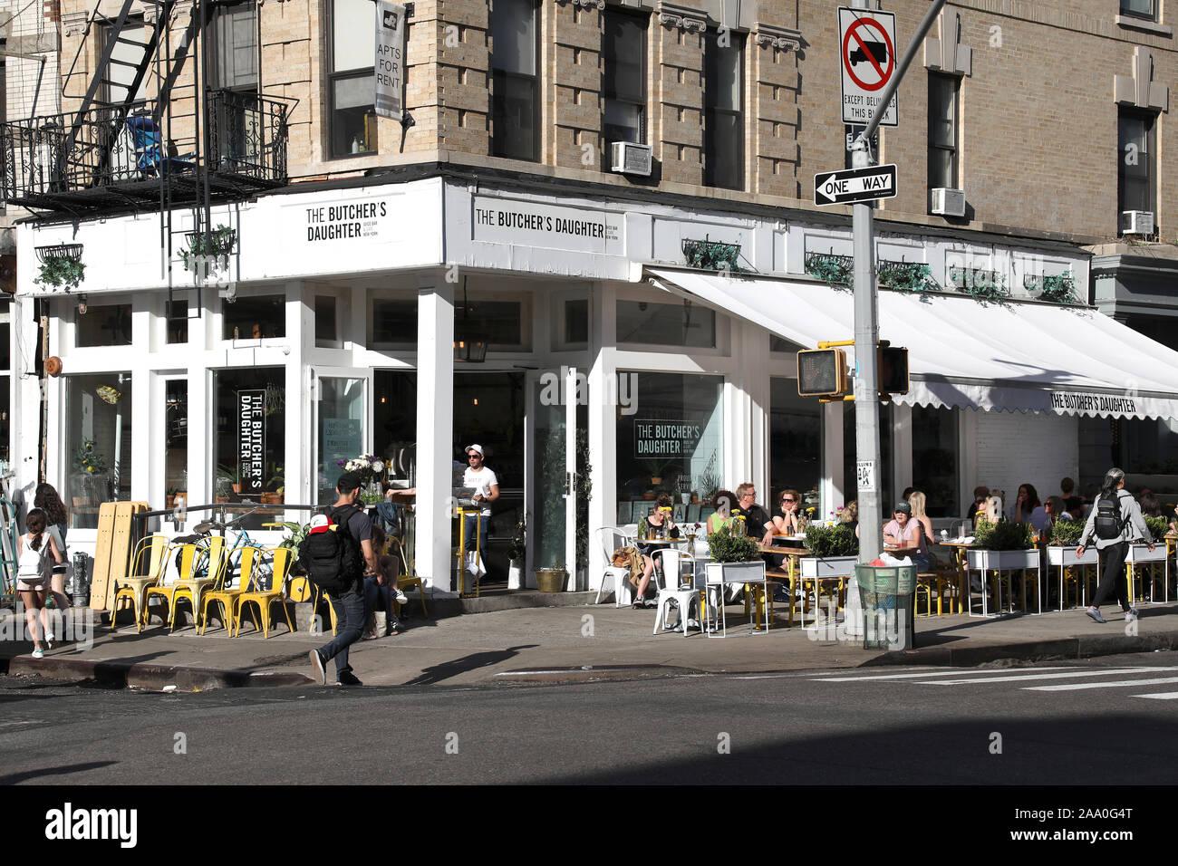 The Butcher's Daughter Café Juice Bar, Nolita, Manhattan, New York Stock Photo
