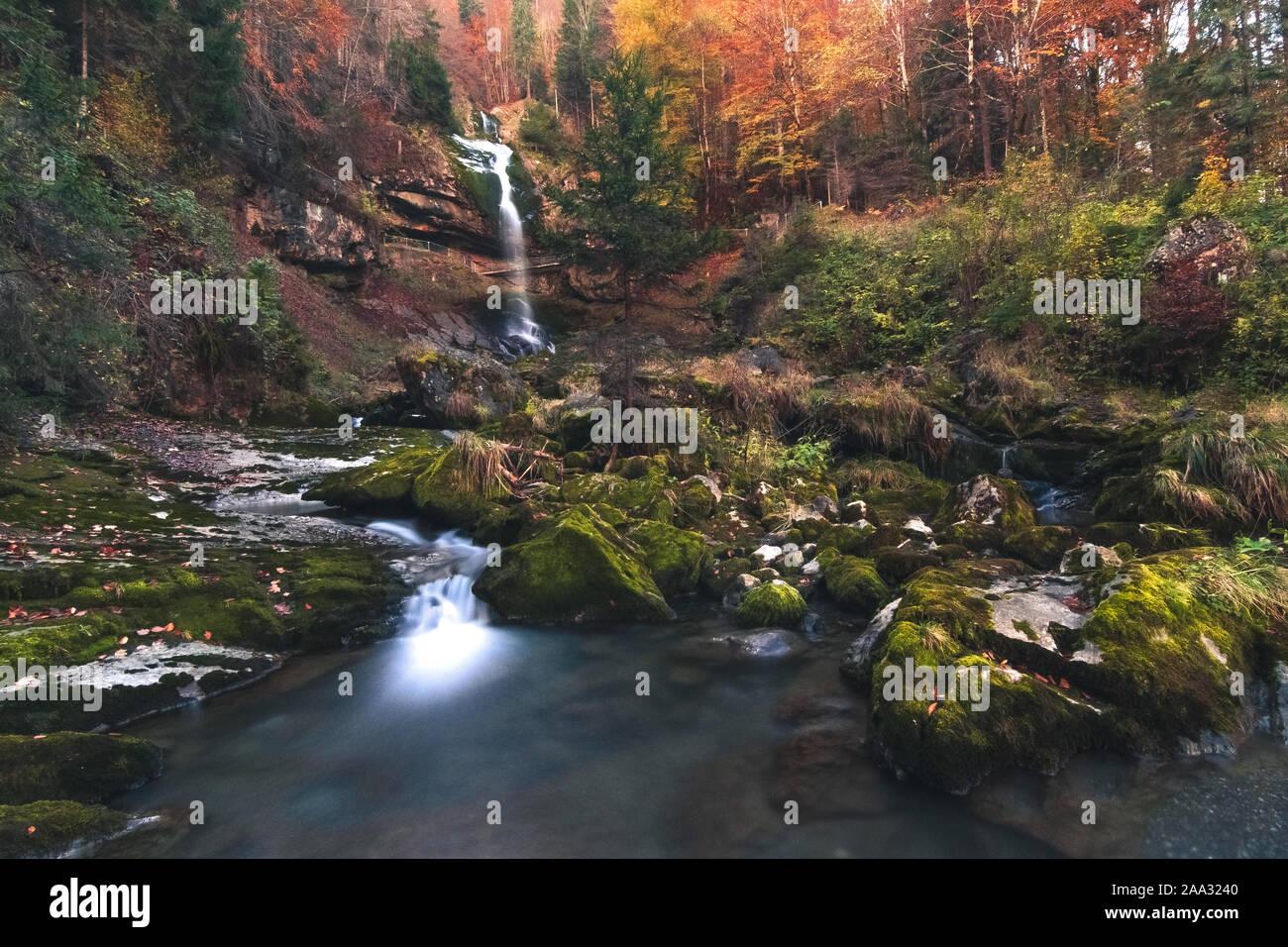 Giessbach Falls Stock Photo