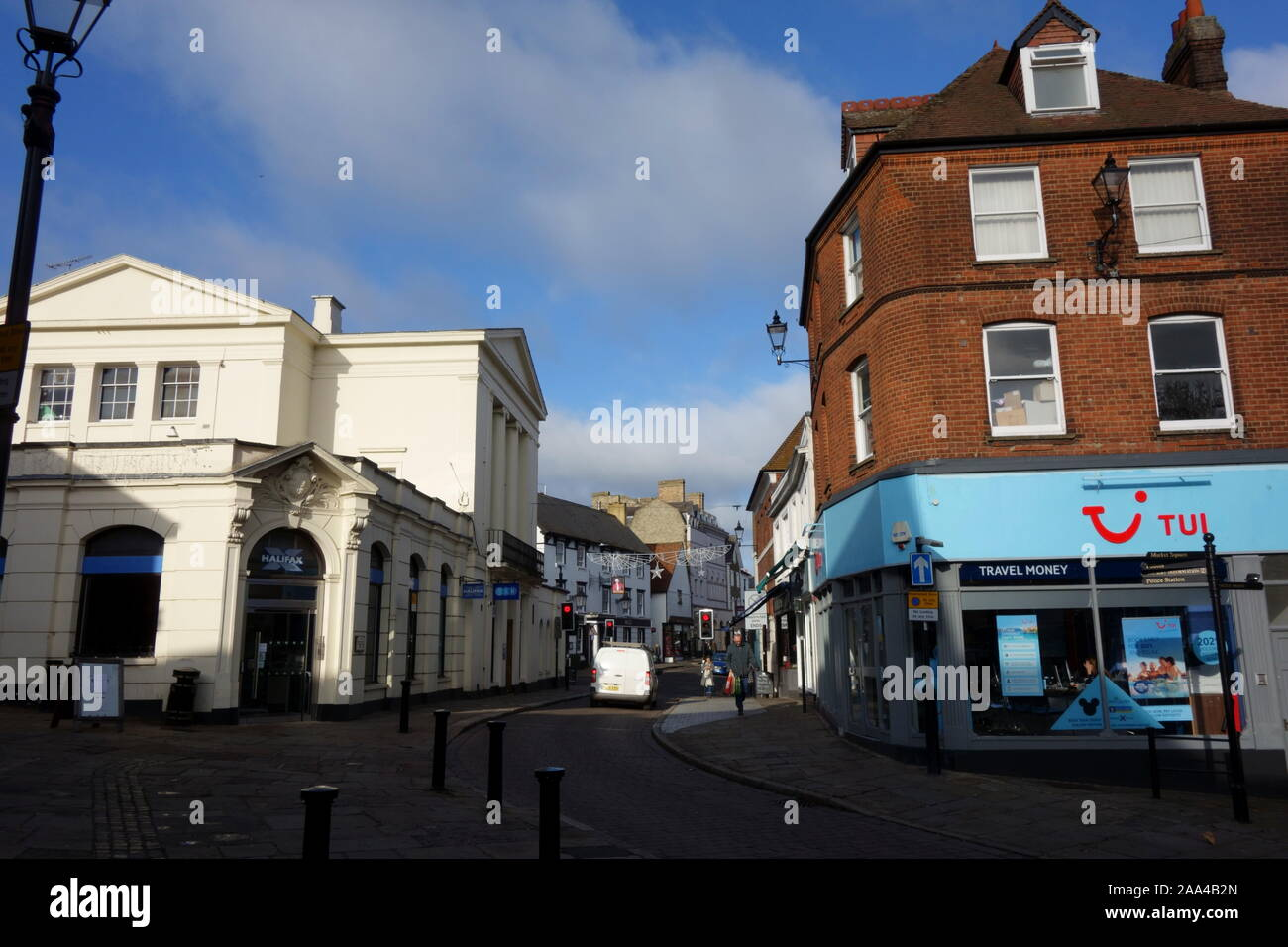 Bishops Stortford Town Centre High Street, Hertfordshire, England, UK, GB Stock Photo