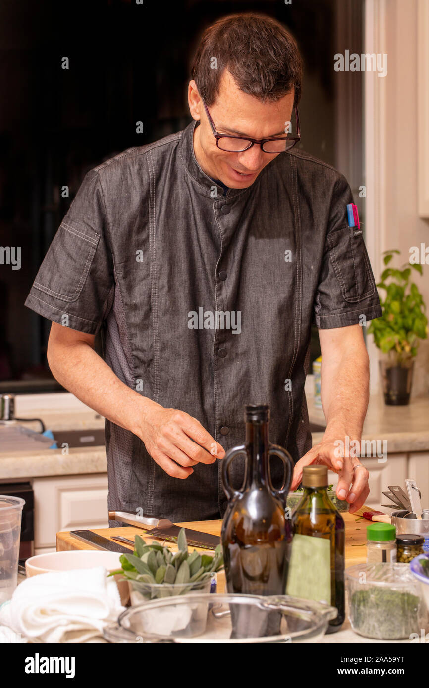 Cooking Class By A Local Chef On How To Make Pasta Stock Photo Alamy
