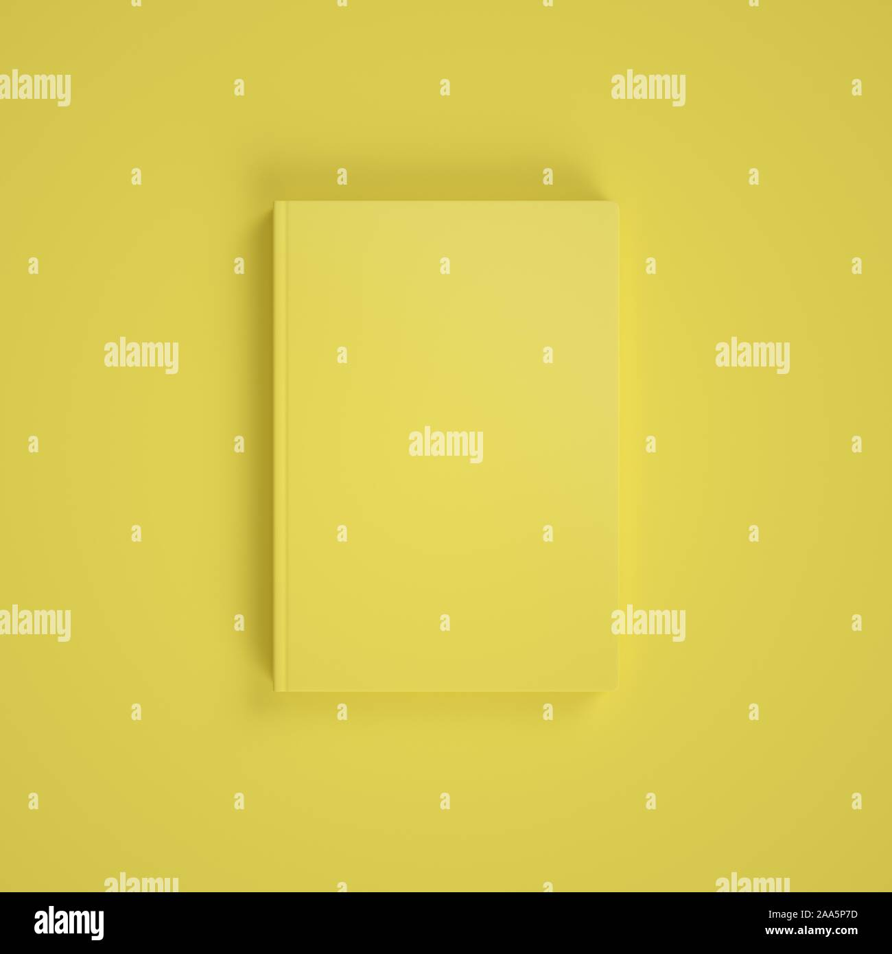 Download Blank Yellow Book On Yellow Background Easy Cover Mockup Front View Stock Photo Alamy PSD Mockup Templates