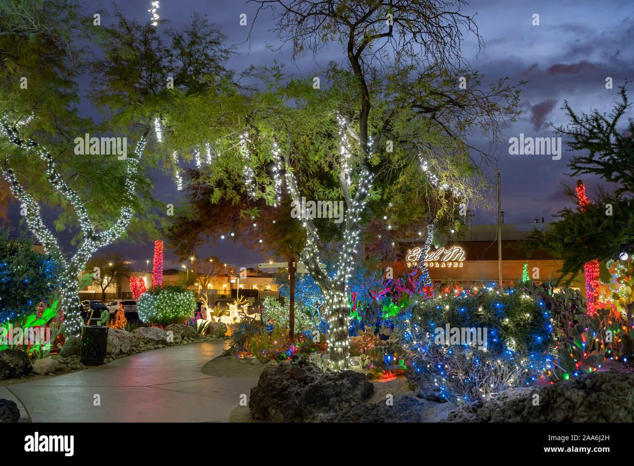 Ethel M Christmas Lights 2021 Henderson Nov 19 Night View Of Many Christmas Lights Of Ethel M Chocolate Factory On Nov 19 2019 At Henderson Nevada Stock Photo Alamy