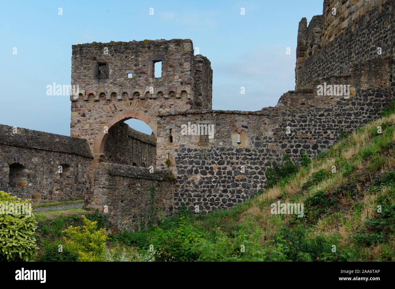 Münzenberg Castle, Wetteraukreis, Hesse, Germany, Europe Stock Photo