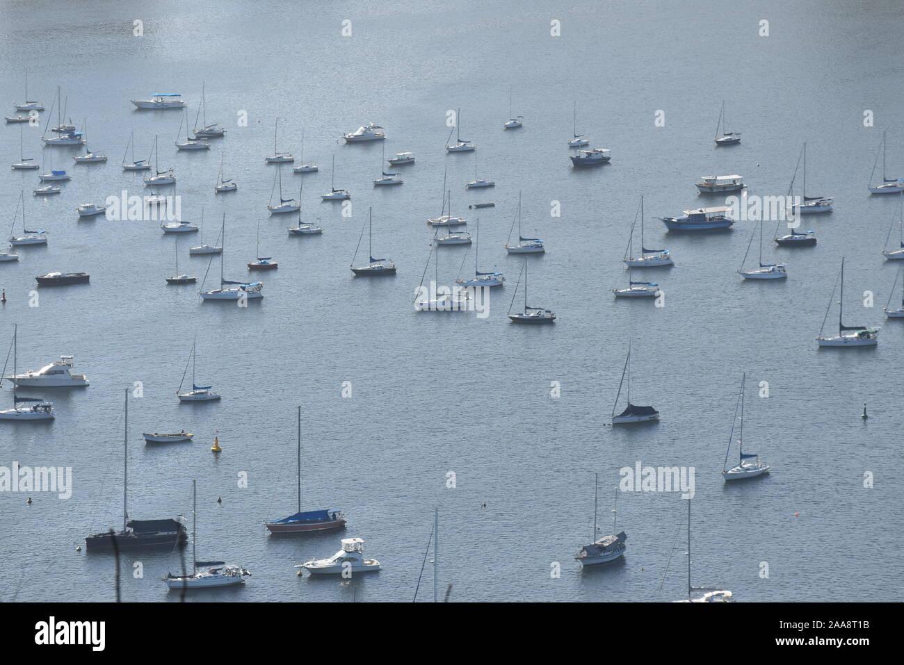 boats in Rio de Janeiro Stock Photo