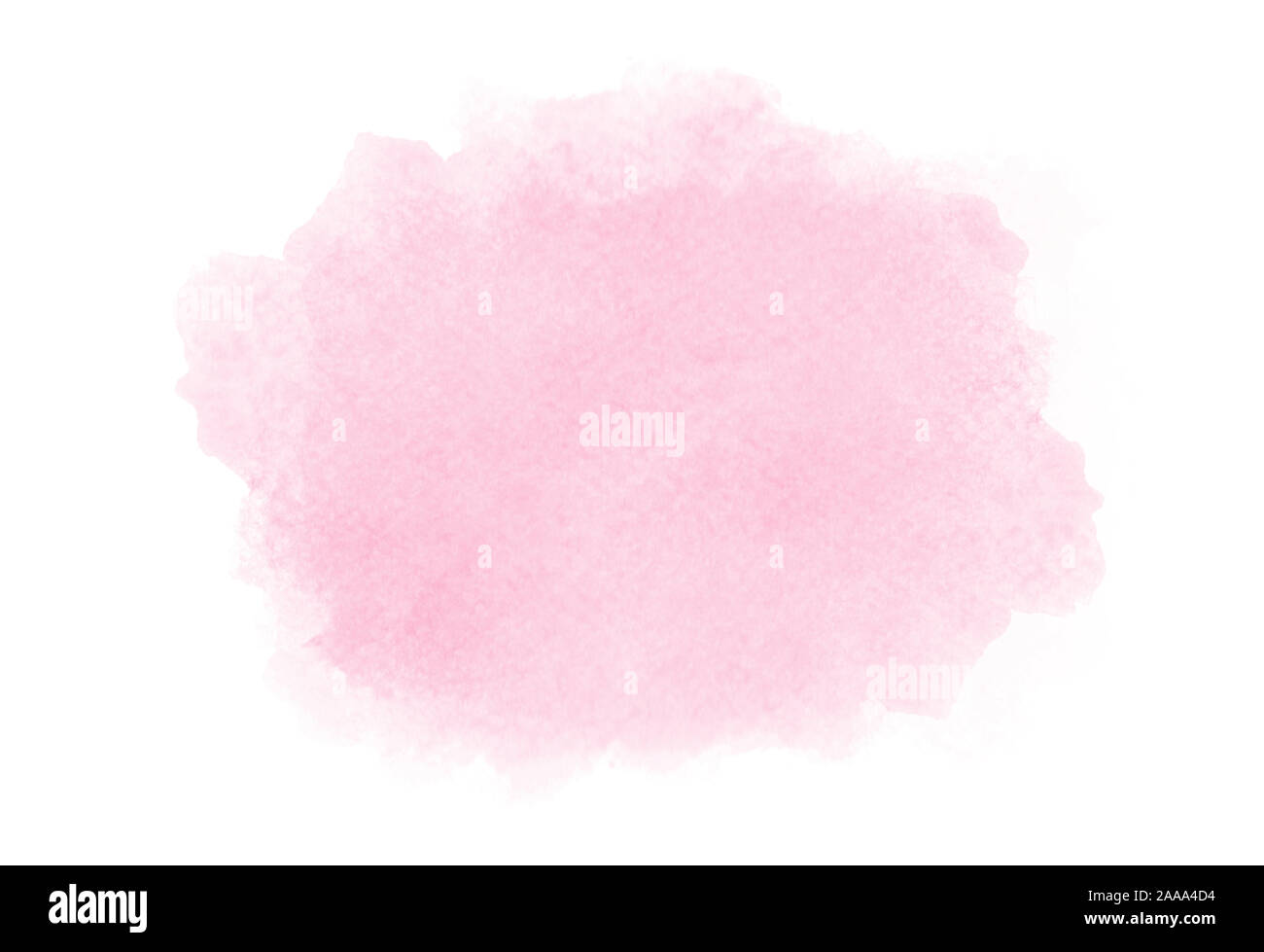 Pink watercolor on white backgroung Stock Photo