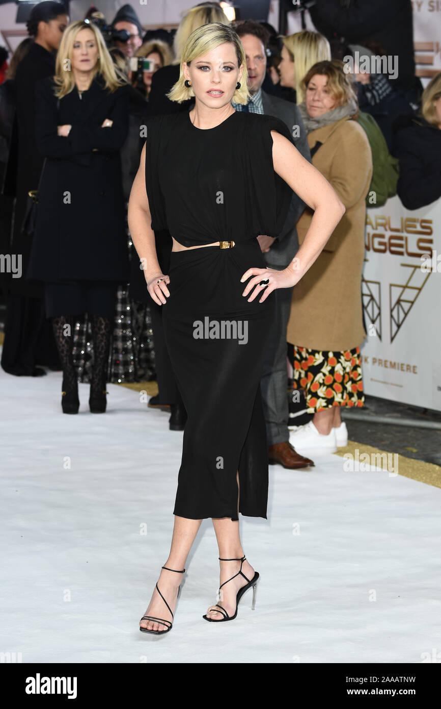 "LONDON, UK. November 20, 2019: Elizabeth Banks arriving for the ""Charlie's Angels"" premiere at the Curzon Mayfair, London. Picture: Steve Vas/Featureflash Stock Photo"