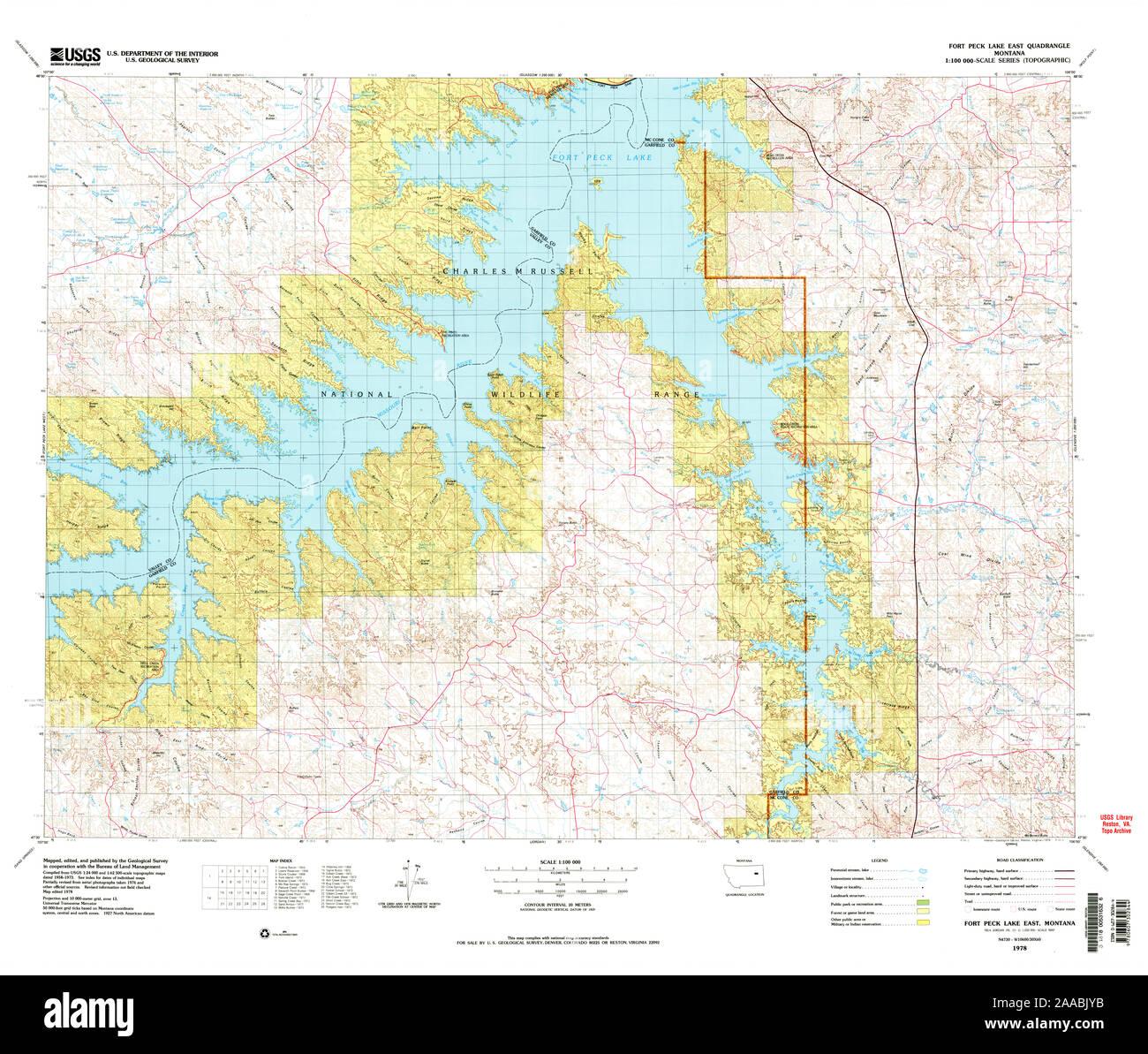 fort peck lake map Usgs Topo Map Montana Mt Fort Peck Lake East 268408 1978 100000 fort peck lake map