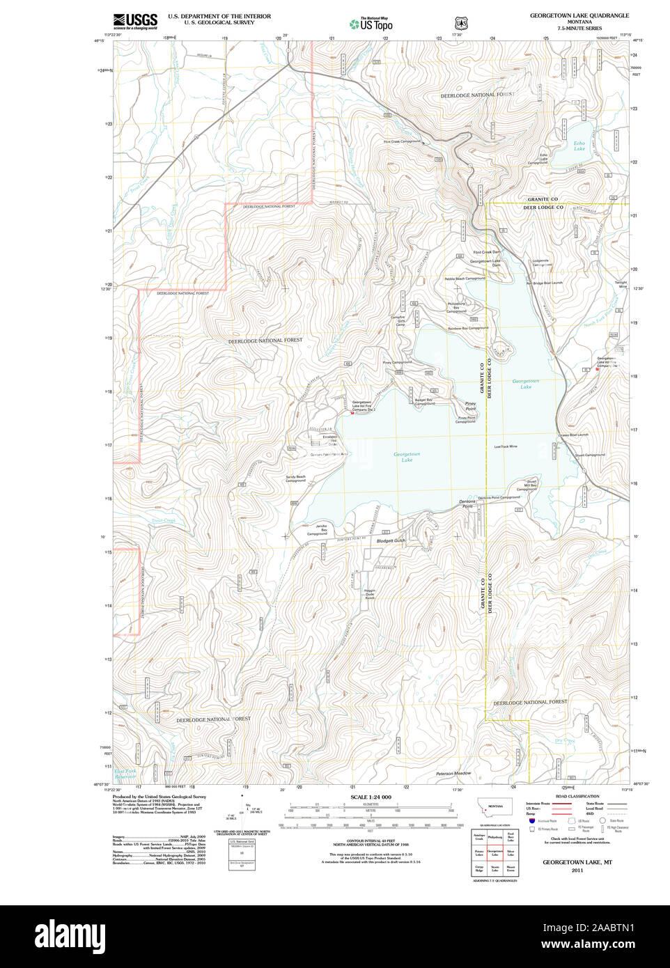 georgetown lake mt map Usgs Topo Map Montana Mt Georgetown Lake 20110525 Tm Restoration georgetown lake mt map