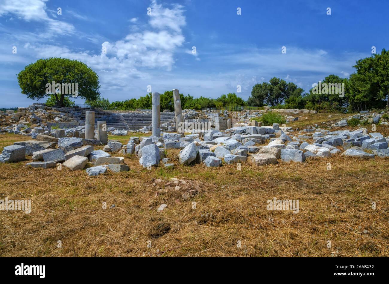 Ruins Of Teos Ancient City Sigacik Seferihisar Izmir Turkey Stock Photo Alamy
