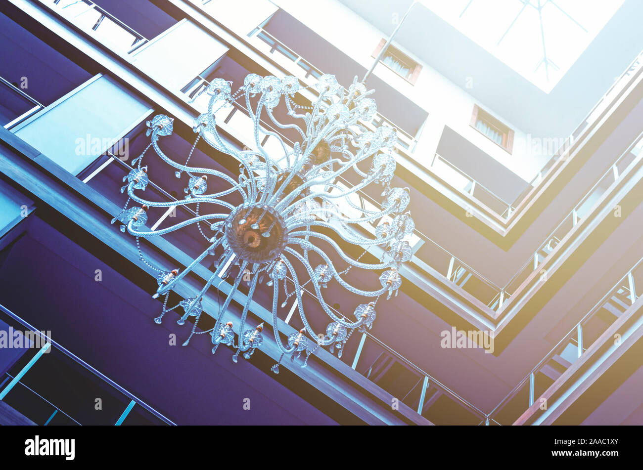 Details Of The Interior Of A Modern Hotel And Its Roof From The Inside Stock Photo Alamy