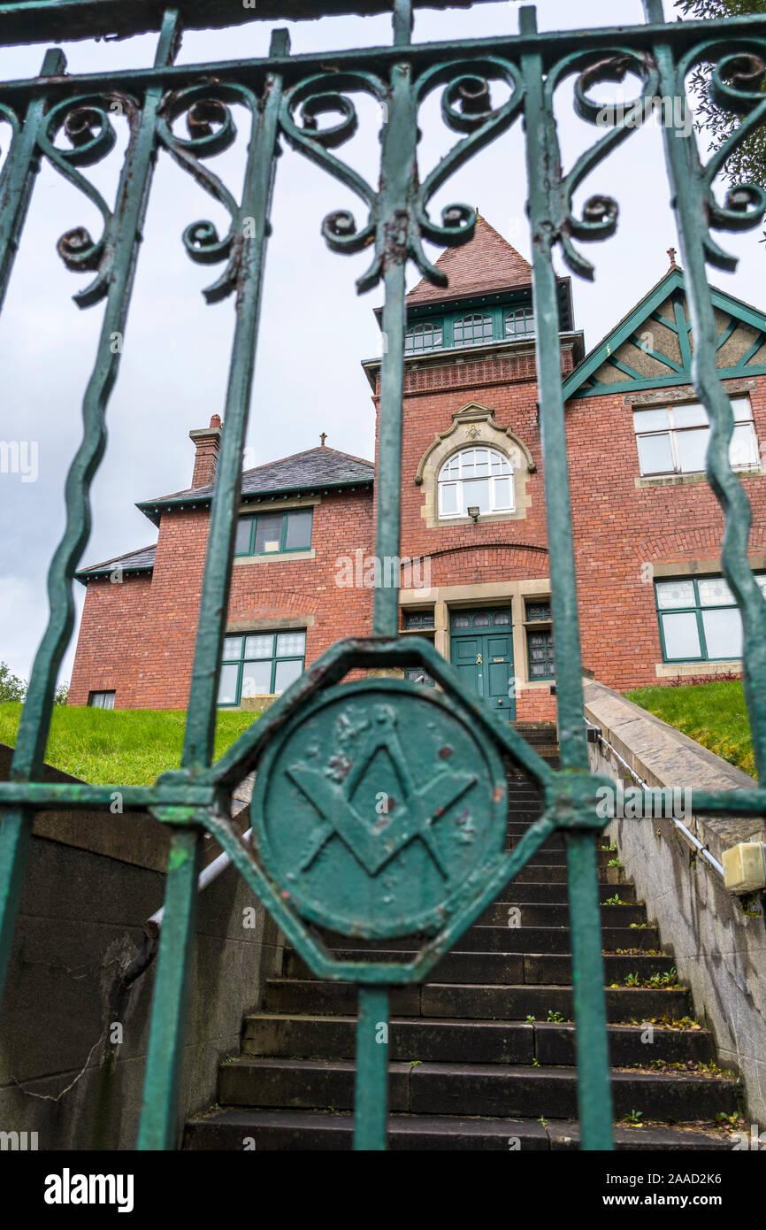 Masonic Hall building in Sligo Town, County Sligo, Ireland Stock Photo