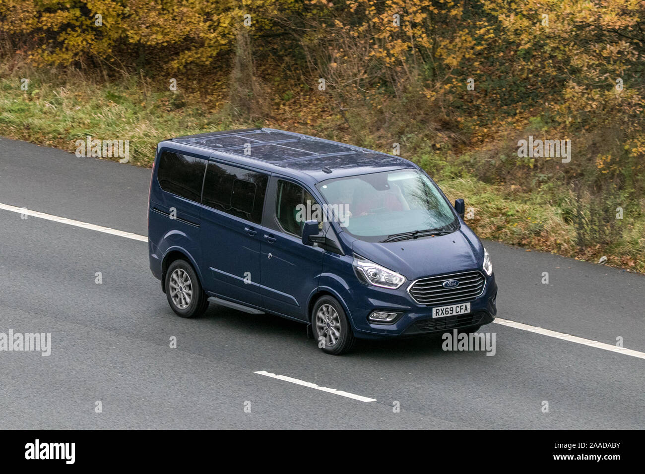 FORD TRANSIT PCV traveling on the M61 motorway near Manchester, UK Stock Photo