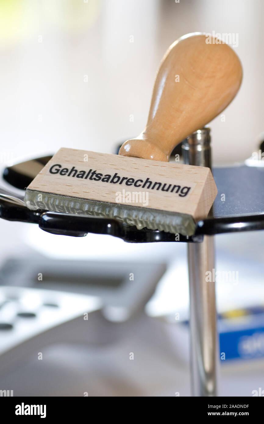 """Stempel mit der Aufschrift """"Gehaltsabrechnung"""" Stock Photo"""