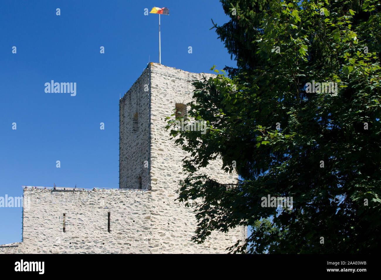Deutschland,Hessen,Burgruine Freienfels,Bergfried (pr) Stock Photo