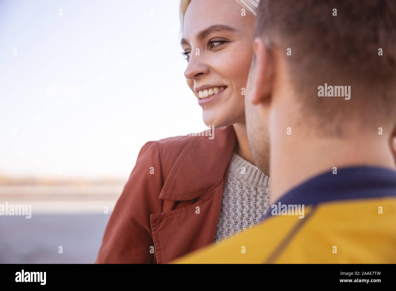 Couple spending their morning in the fresh air Stock Photo