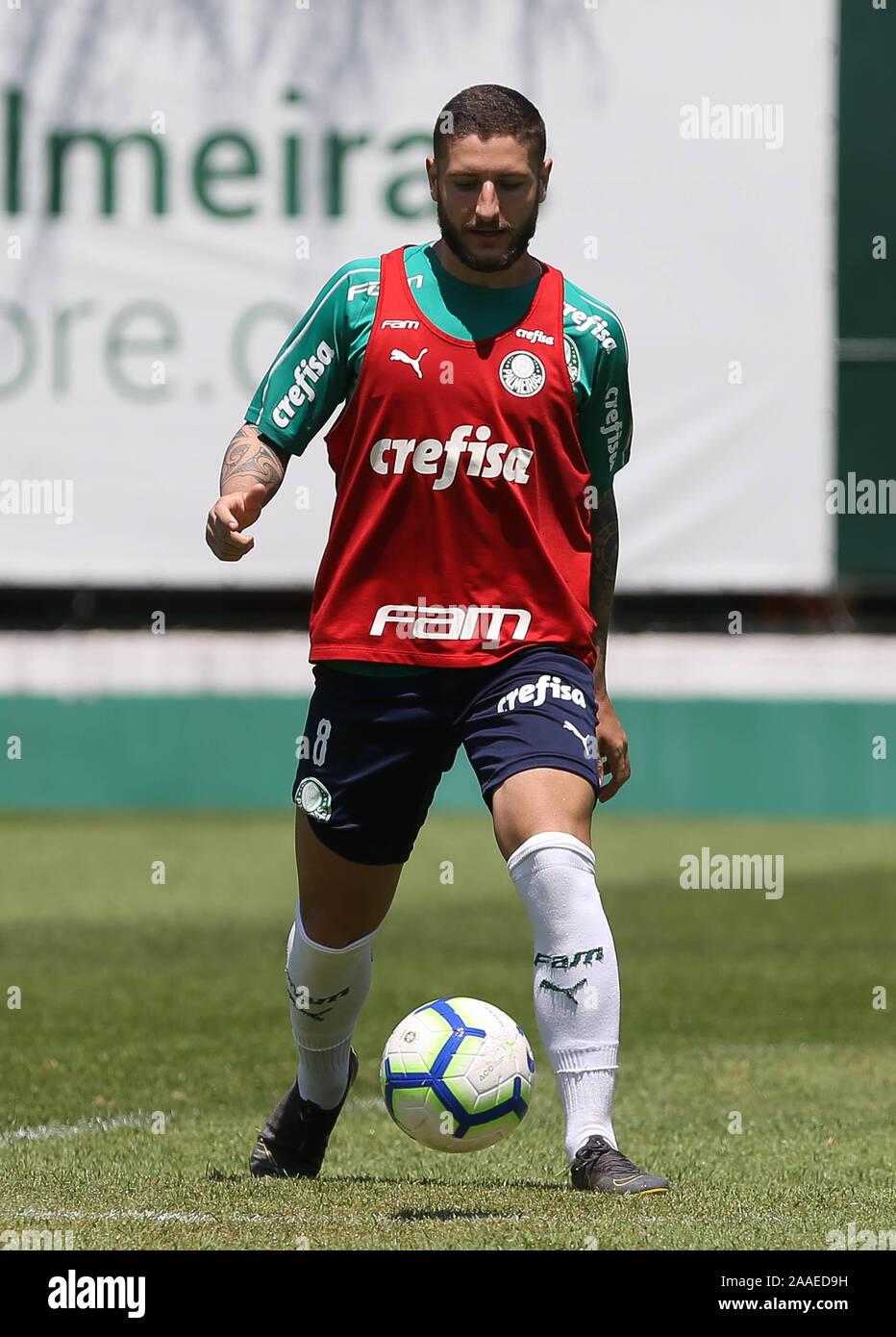 SÃO PAULO, SP - 21.11.2019: TREINO DO PALMEIRAS - Zé Rafael player, from SE Palmeiras, during training at the Football Academy. (Photo: Cesar Greco/Fotoarena) Stock Photo