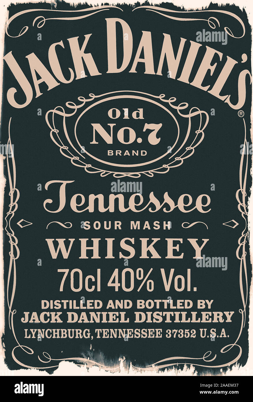 Vintage Whiskey Label High Resolution Stock Photography and Images Within Blank Jack Daniels Label Template