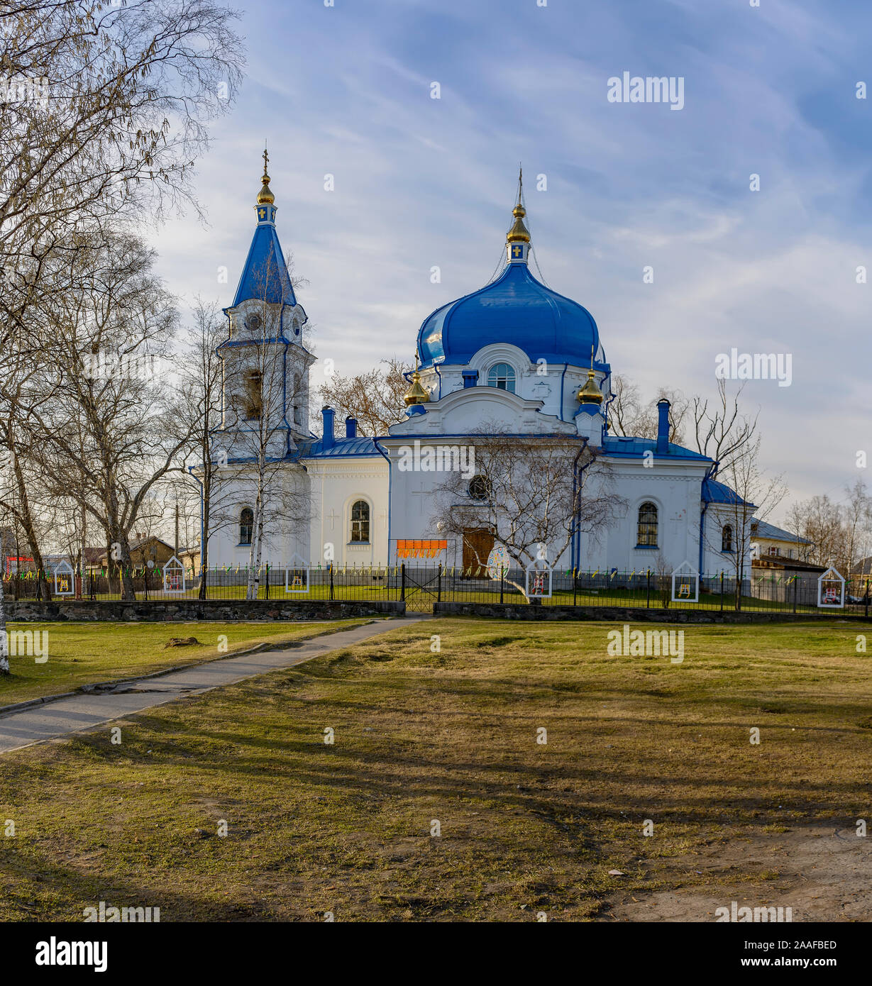 Church of St. Nicholas in sortaval, a monument of cultural heritage of the Republic of Karelia. Stock Photo