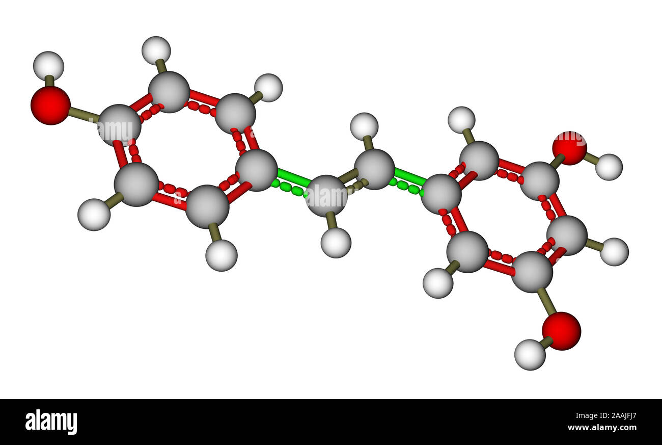 Resveratrol Molecular Structure Stock Photo Alamy