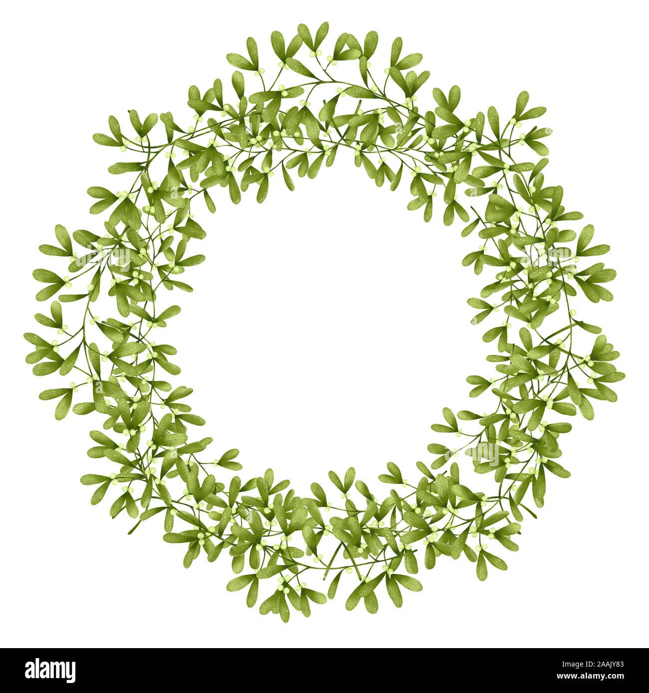 A Mistletoe Wreath Wedding Invitation Design Template