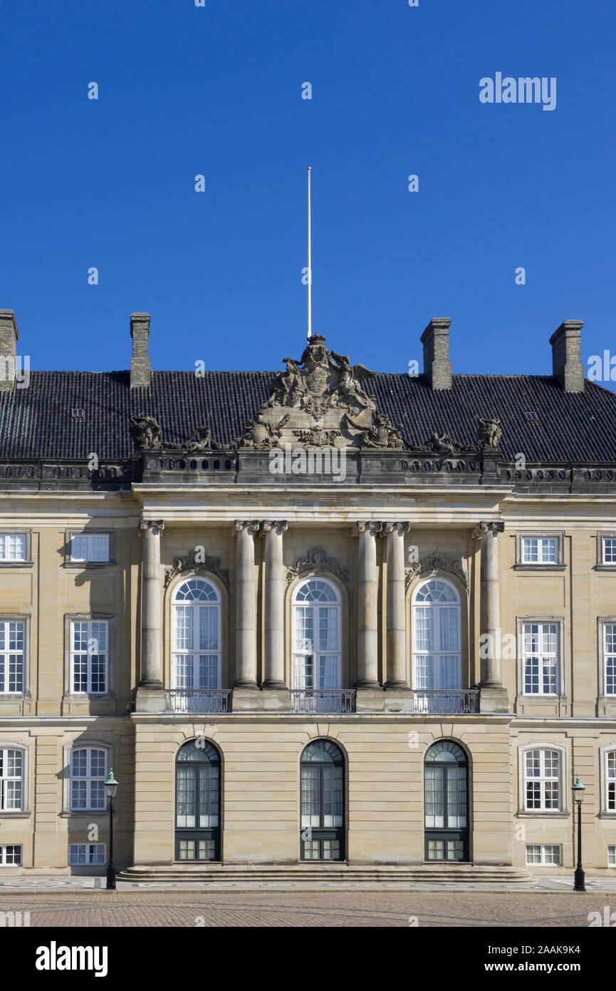 The Royal Palace Amalienborg in Copenhagen, Denmark Stock Photo