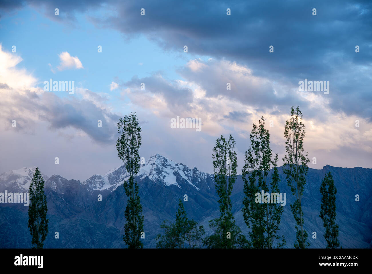 view at Himalayas in Ladakh, northern India Stock Photo