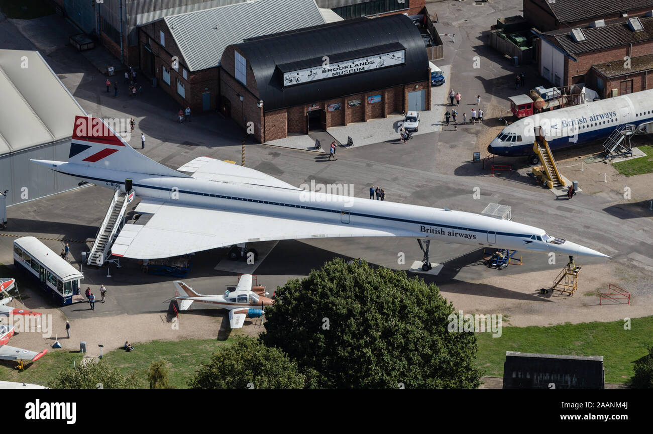 Brooklands Museum from the Air Stock Photo