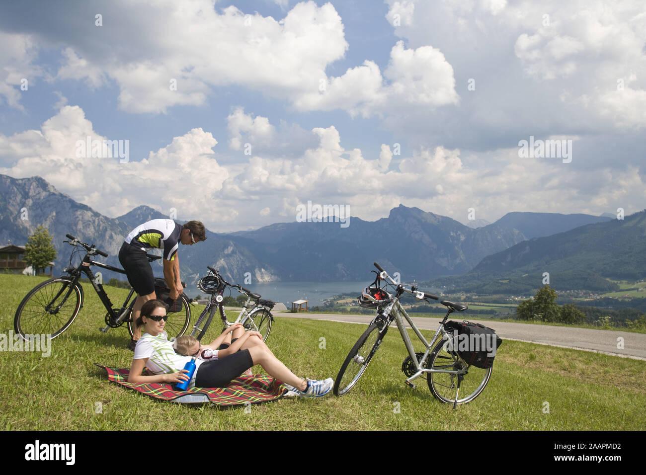 Mountainbiker unterwegs Stock Photo