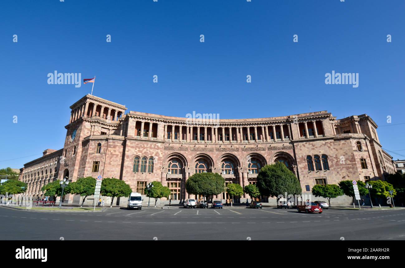 Yerevan: Republic Square, Government of the Republic of Armenia building Stock Photo