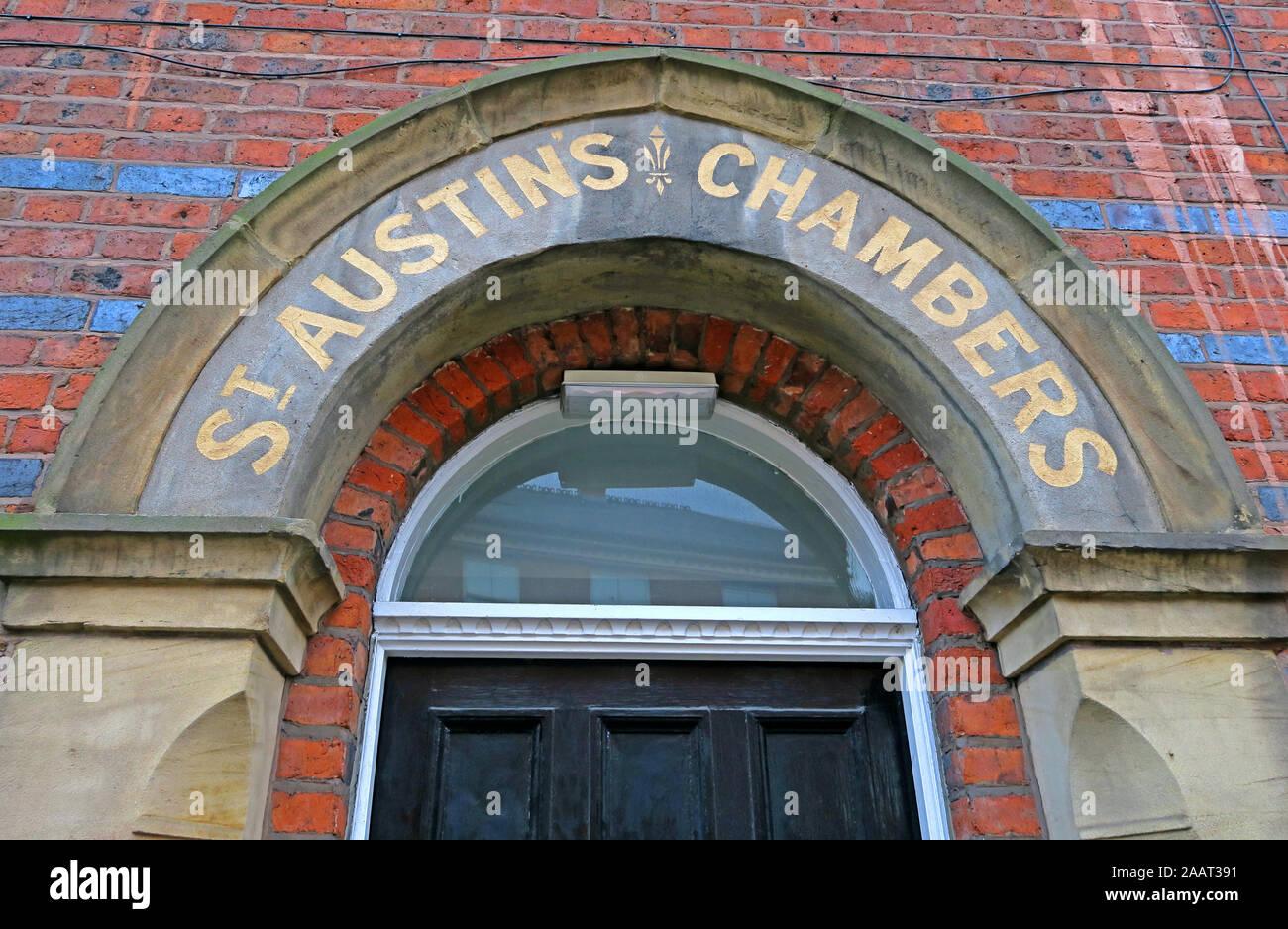 St Austins Chambers building, St Austins Lane, Warrington, Cheshire, England, WA1 1HG Stock Photo