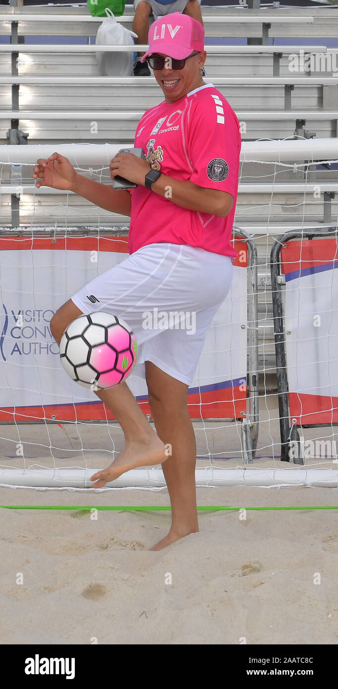 Florida, USA. 23rd Nov, 2019. Miami Beach, FL - NOVEMBER 23: attends the Celebrity Soccer Match Benefiting Best Buddies Charity at the North Beach Sand-Bowl on November 23, 2019 in Miami Beach, Florida. Credit: Storms Media Group/Alamy Live News Stock Photo
