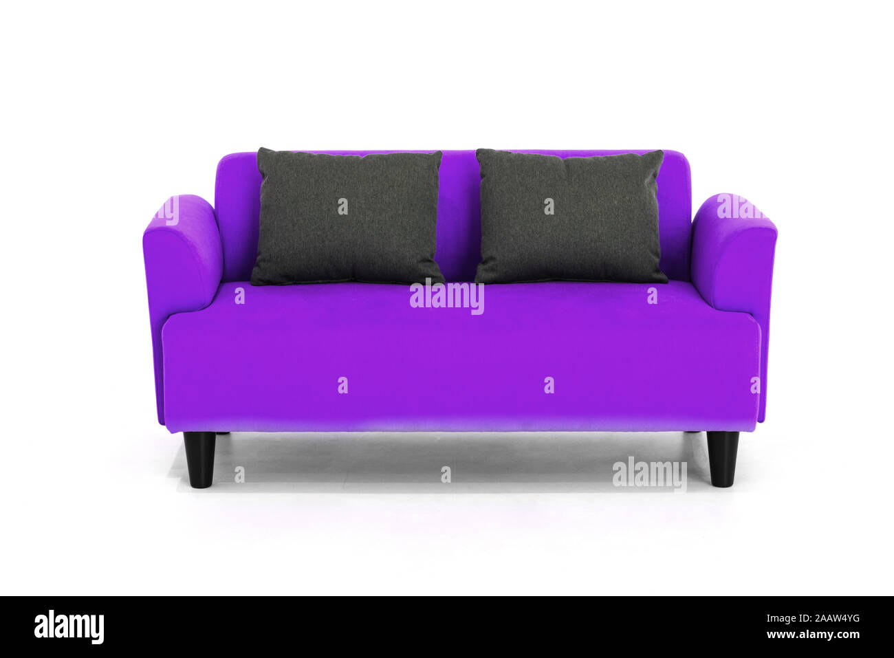 Violet Scandinavian Style Contemporary Sofa On White