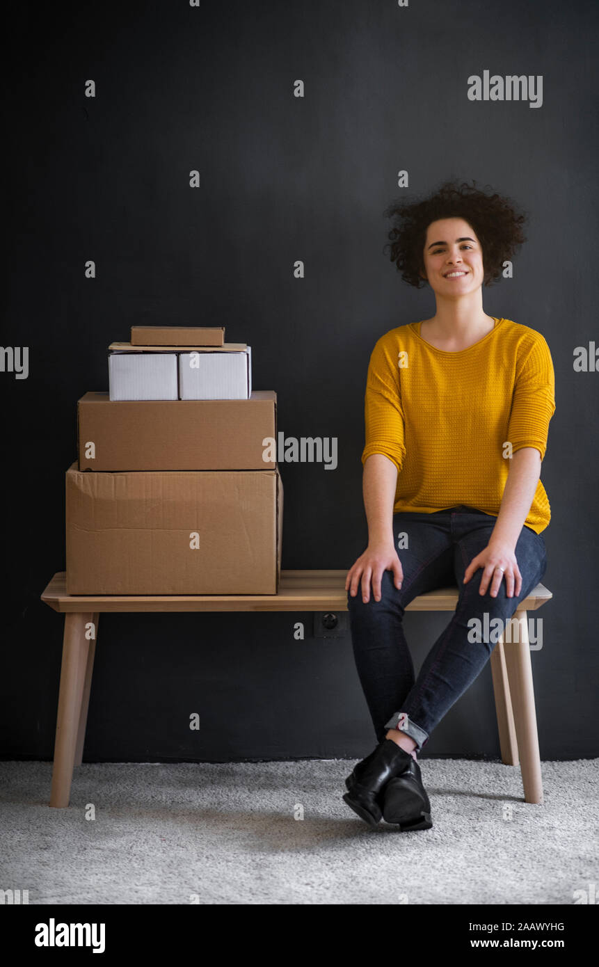 Young woman starting up a small business Stock Photo