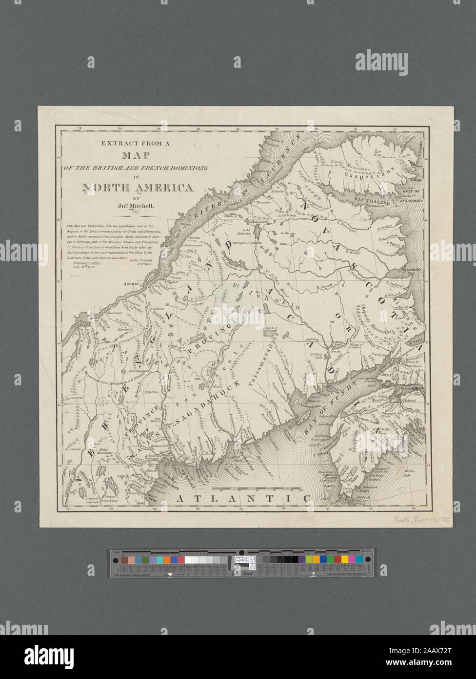 Extract from a map of the British and French dominions in ...