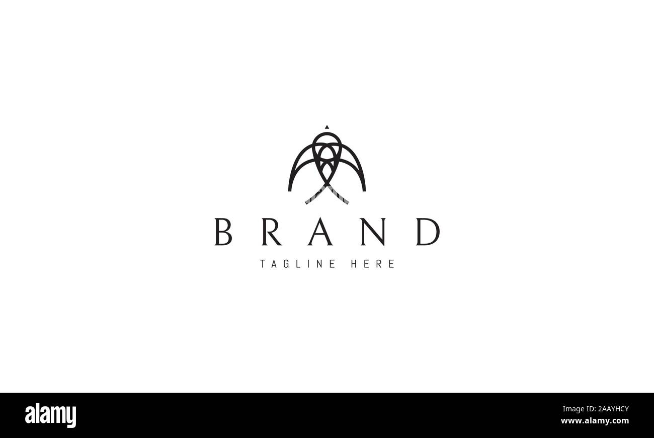 vector logo on which the abstract image of a swallow in a linear style stock vector image art alamy alamy