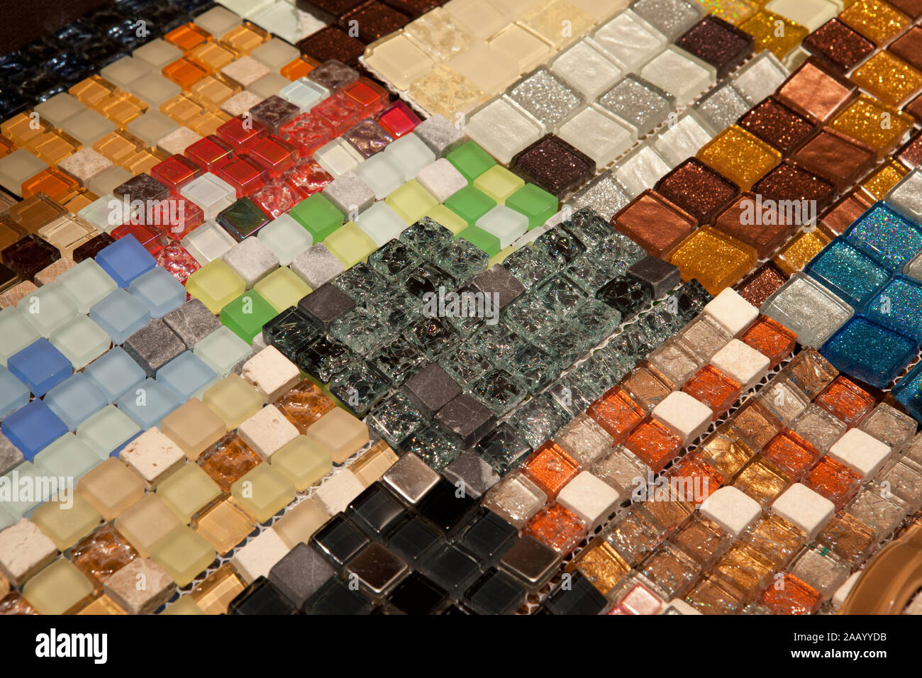 Mosaic Tiles Texture Of Different Colors And Shades Bathroom To The Kitchen Floor And Walls Are Used To Repair The Premises Structure Design Decor Stock Photo Alamy