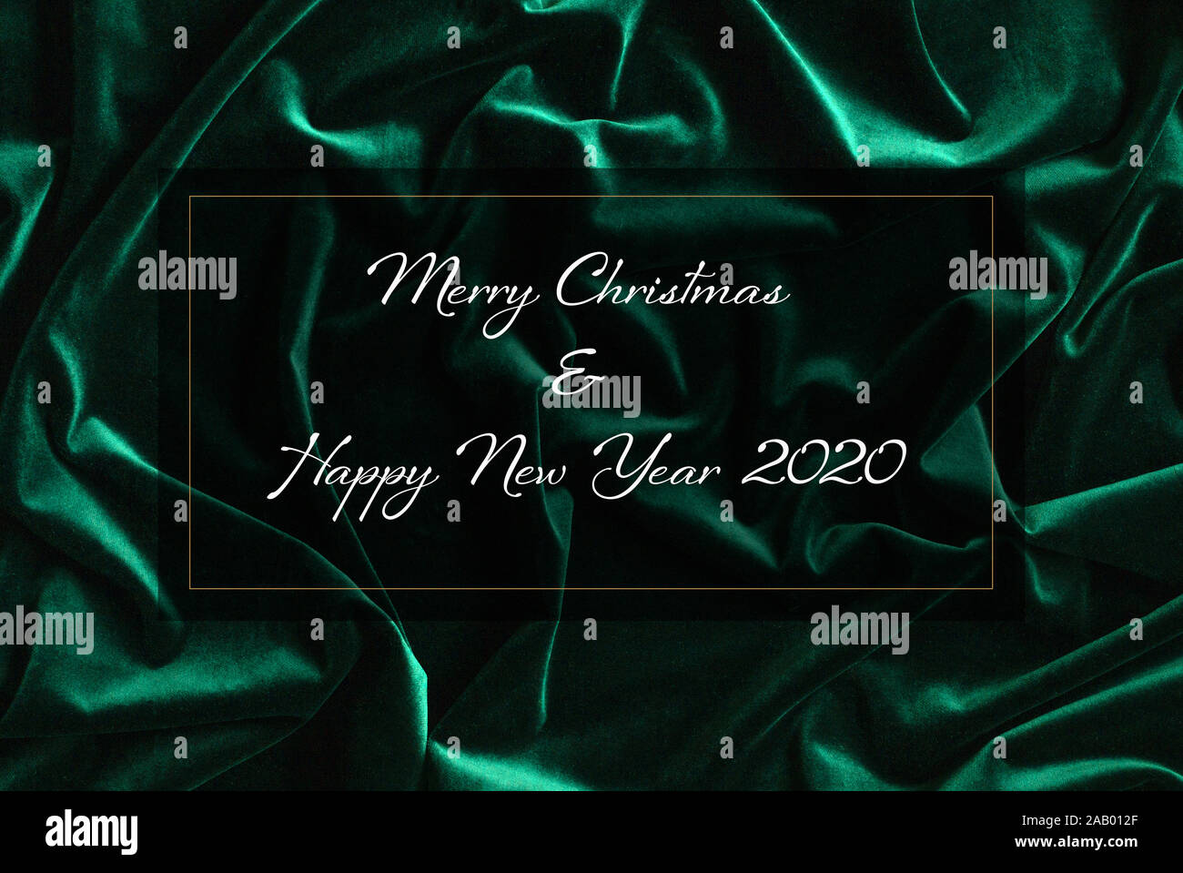 Merry Christmas And Happy New Year Green And Cream 2020 Merry Christmas High Resolution Stock Photography and Images   Alamy
