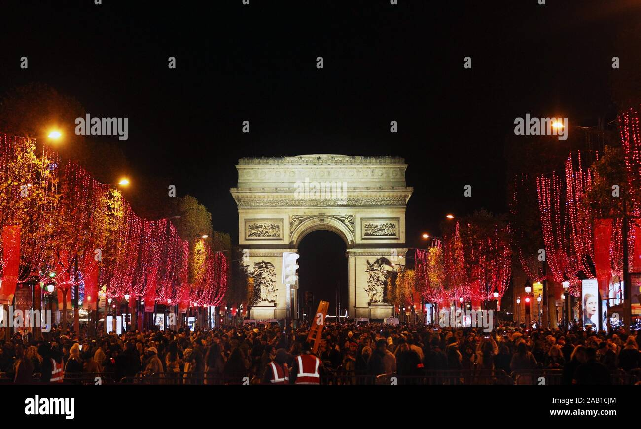 Events In France Christmas 2020 Paris, France. The annual Champs Elysees Avenue Christmas