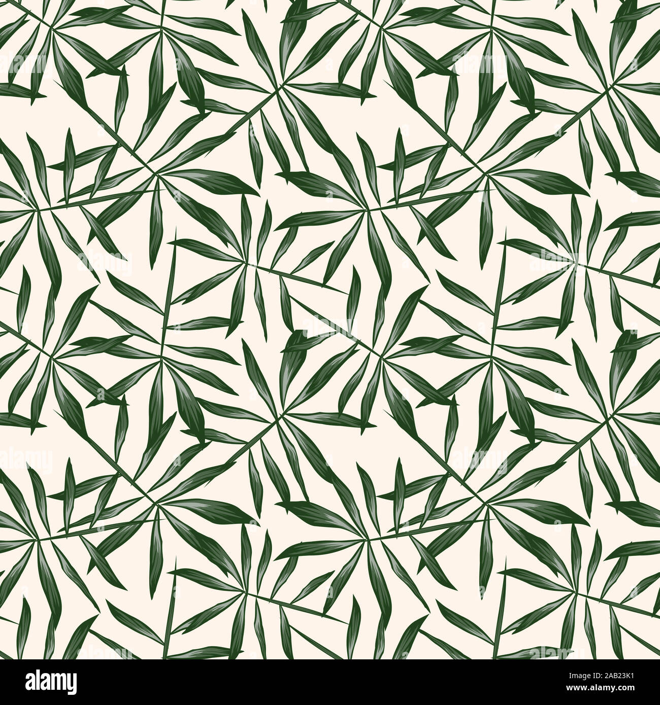Tropical Leaf seamless Pattern  - It is suitable for fashion prints, patterns, backgrounds, websites, wallpaper, crafts Stock Photo