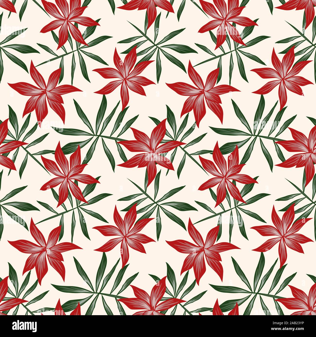 Tropical Floral Seamless Pattern It Is Suitable For Fashion