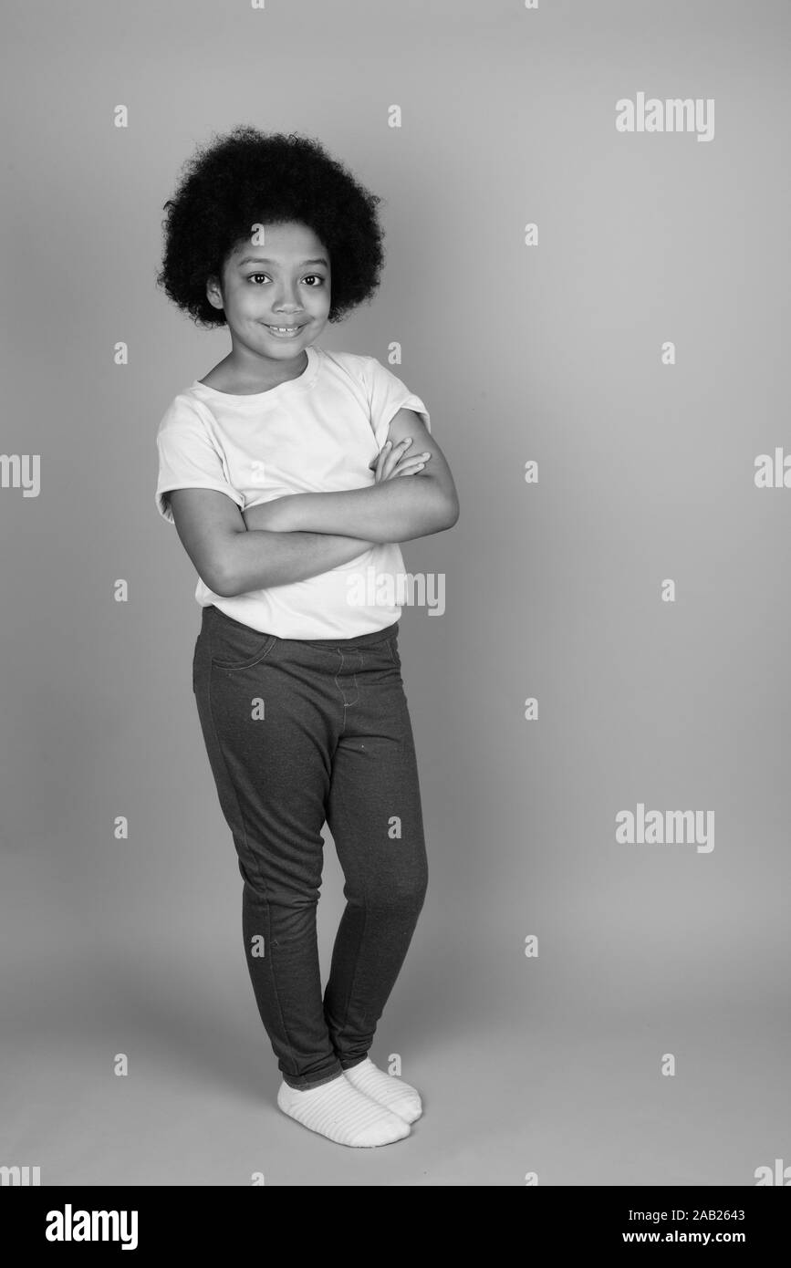 Girl with afro white