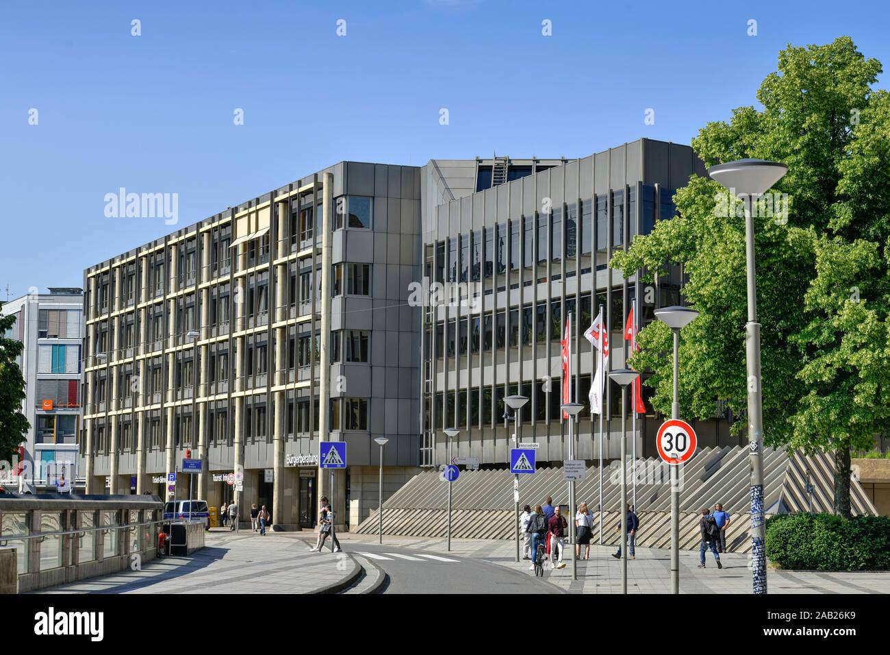Neues Rathaus, Niederwall, Bielefeld, Nordrhein-Westfalen, Deutschland Stock Photo