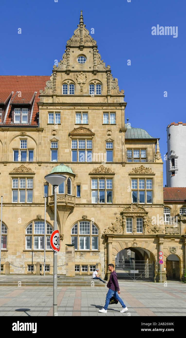Altes Rathaus, Niederwall, Bielefeld, Nordrhein-Westfalen, Deutschland Stock Photo